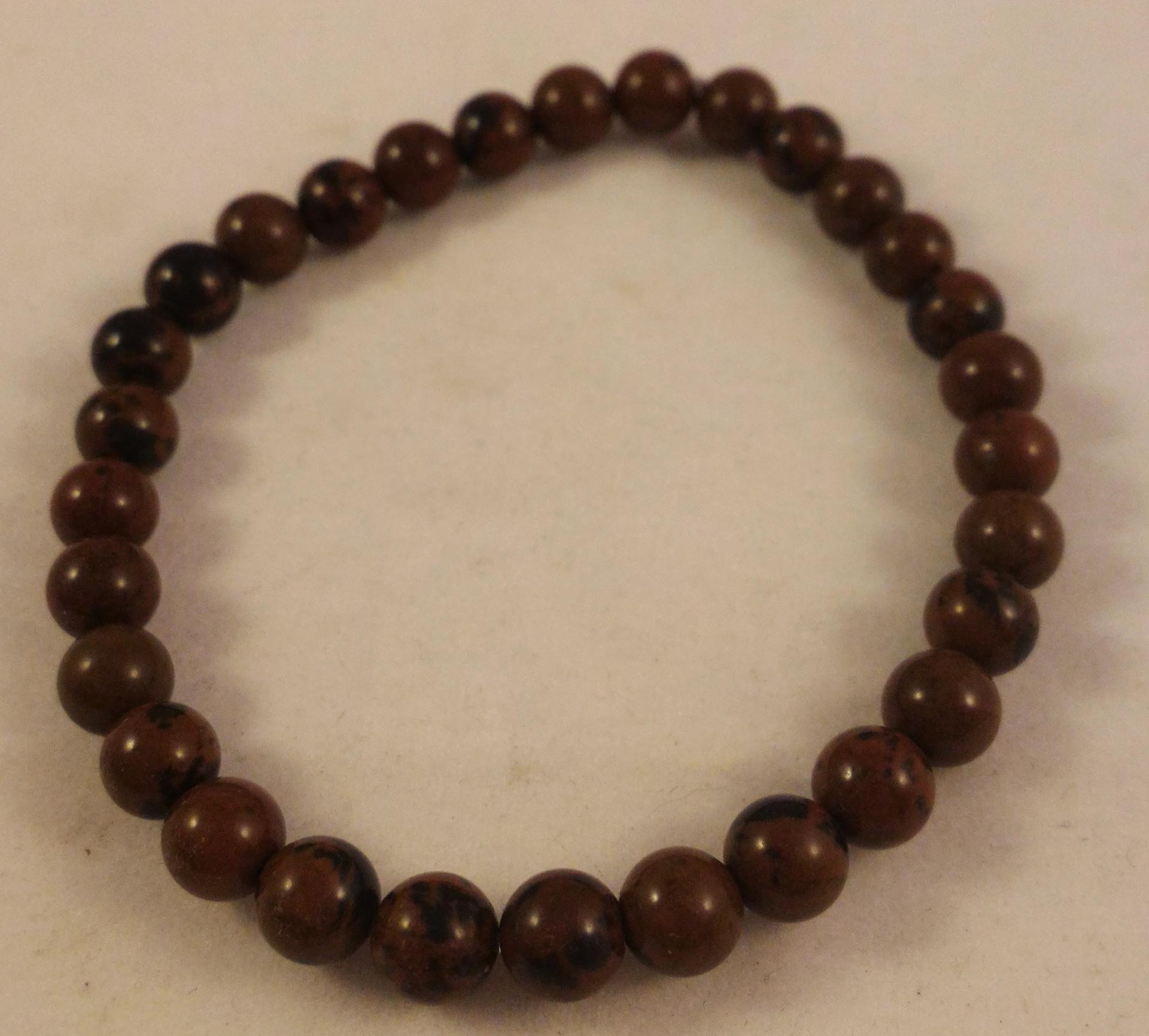0201 bracelet obsidienne marron 2