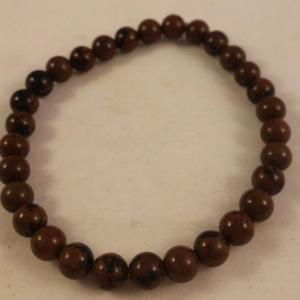 0201 bracelet obsidienne marron 2