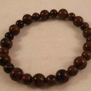 0201 bracelet obsidienne marron