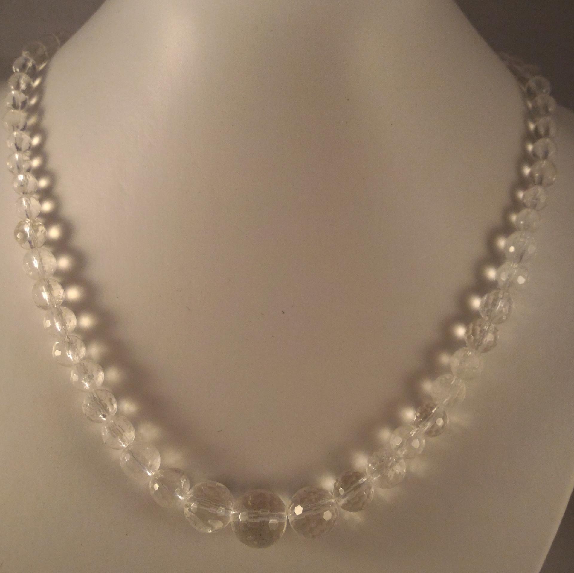 0201 collier cristal facette 1