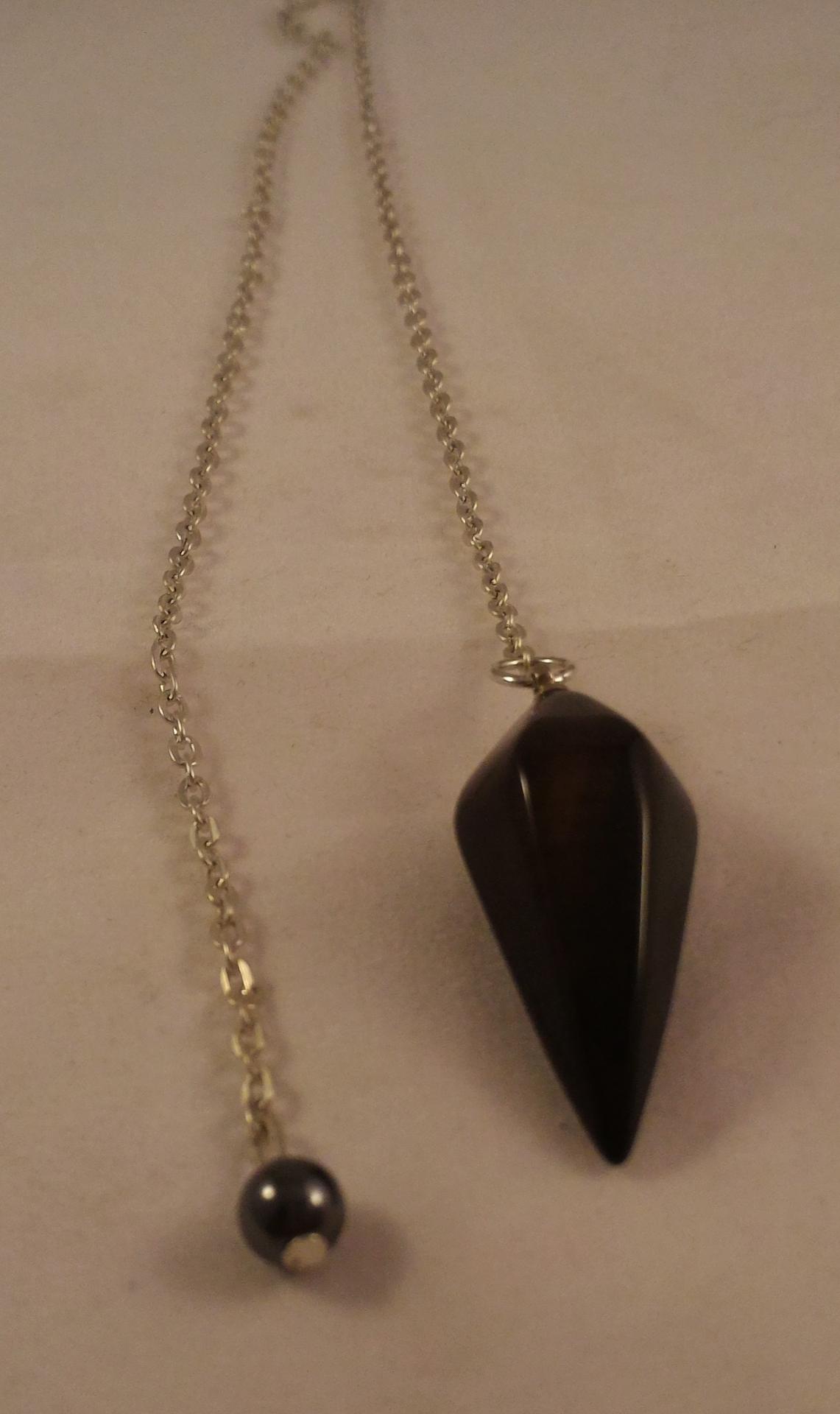 0201 pendule obsidienne