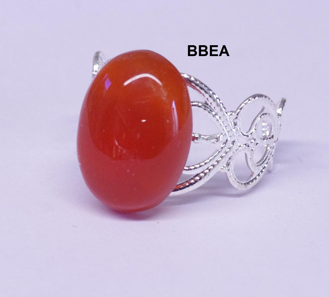 Bague agate orange 13x18mm 4 1