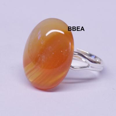 Bague agate orange 13x18mm fine 1 1