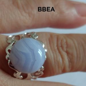 Bague calcedoine bleue 4