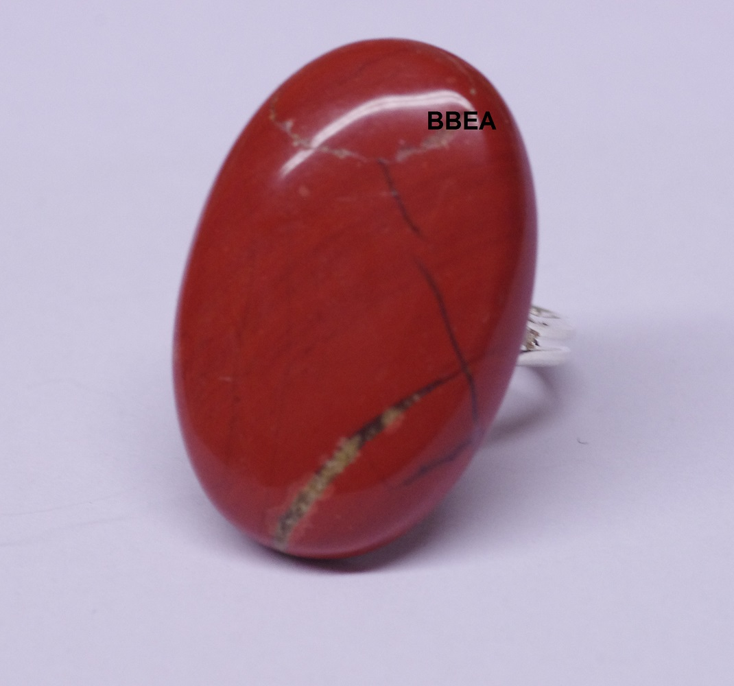 Bague jaspe rouge 20x30mm 1
