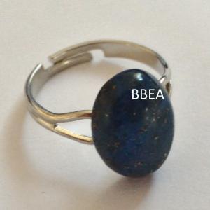 Bague lapis lazuli 10x14mm 2