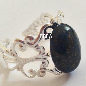 Bague lapis lazuli 10x14mm