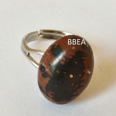 Bague obsidienne marron 1