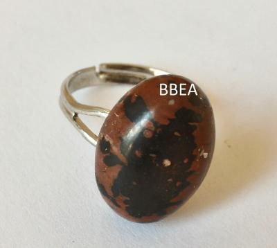 Bague obsidienne marron 1