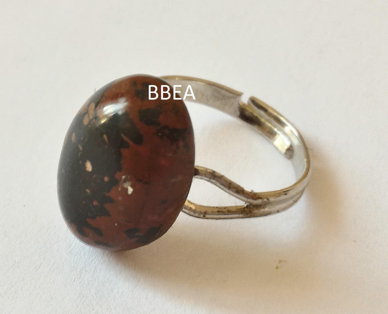 Bague obsidienne marron 2