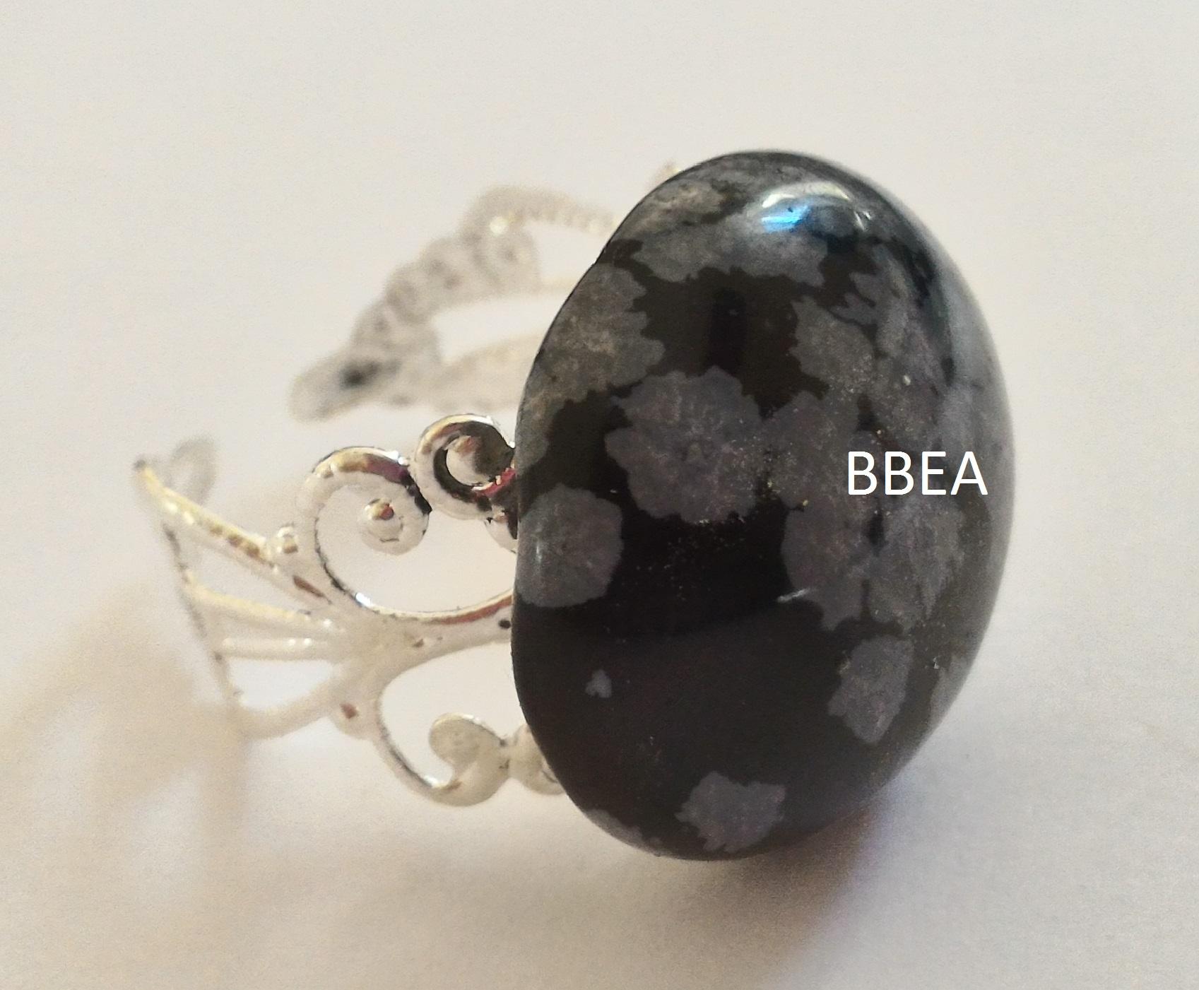 Bague obsidienne neige 2 1