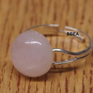Bague quartz rose 12mm fine 3