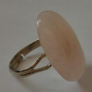 Bague quartz rose 3