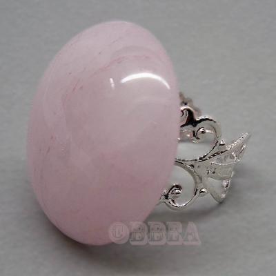 Bague quartz rose 4002