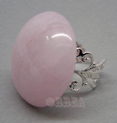 Bague quartz rose 4002