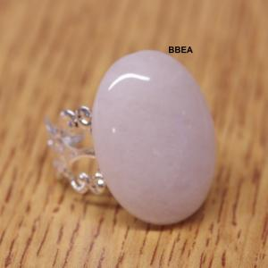 Bague quartz rose ovale 2