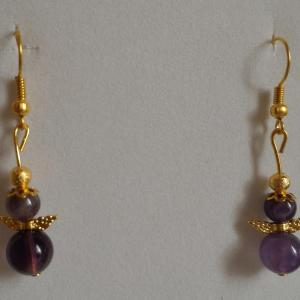 Boucles amethyste ange 2