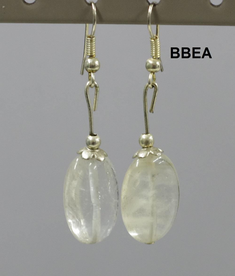 Boucles cristal de roche 1