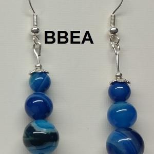 Boucles d oreilles agate bleue