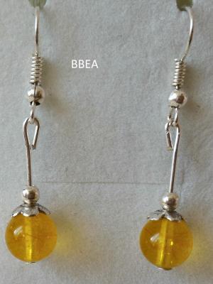 Boucles d oreilles citrine 3 1