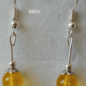Boucles d oreilles citrine 3