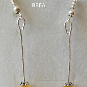 Boucles d oreilles citrine 4