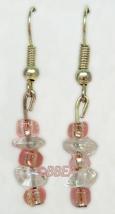 Boucles d oreilles cristal de roche 3106