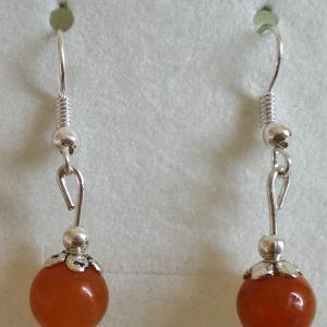 Boucles d oreilles en aventurine rouge 4