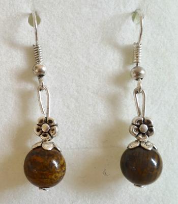 Boucles d oreilles en bronzite 2