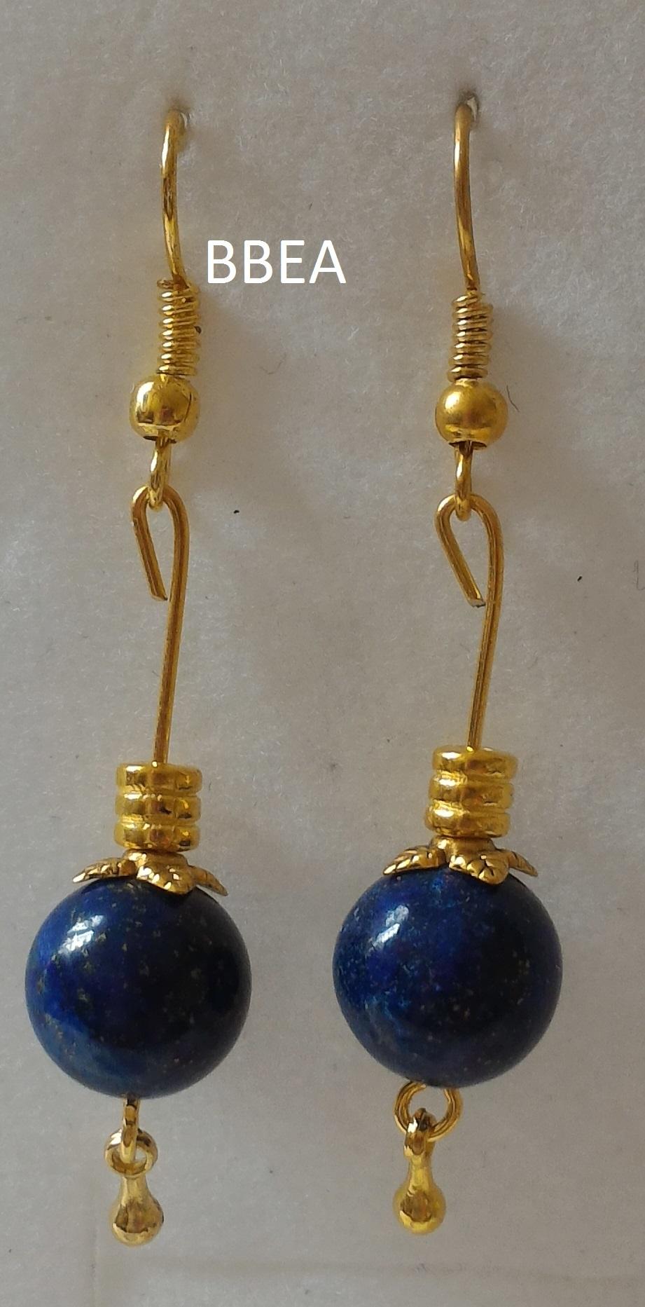 Boucles d oreilles en lapis lazuli 1