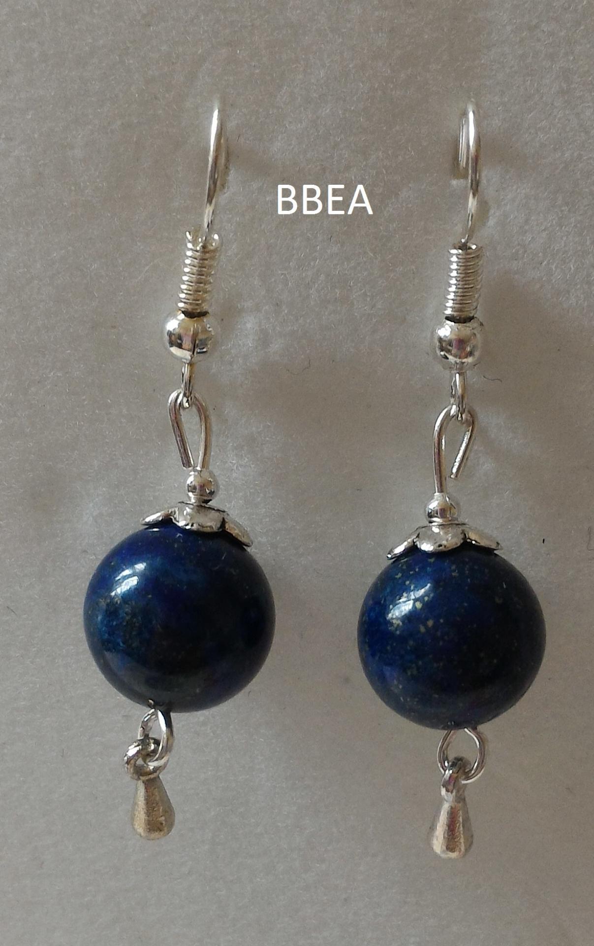Boucles d oreilles en lapis lazuli 2