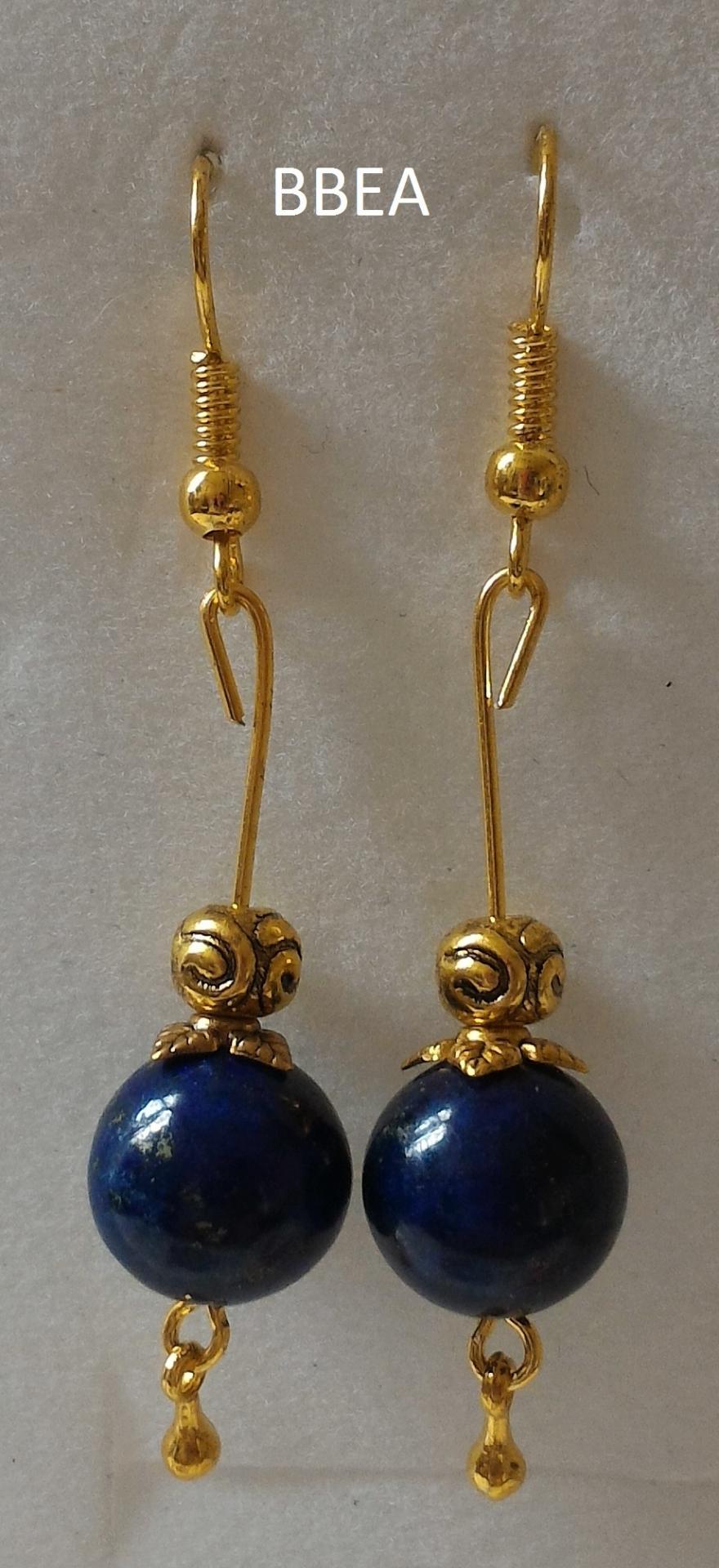 Boucles d oreilles en lapis lazuli 4