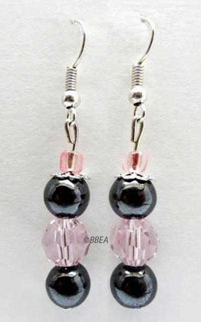 Boucles d oreilles hematite 2485