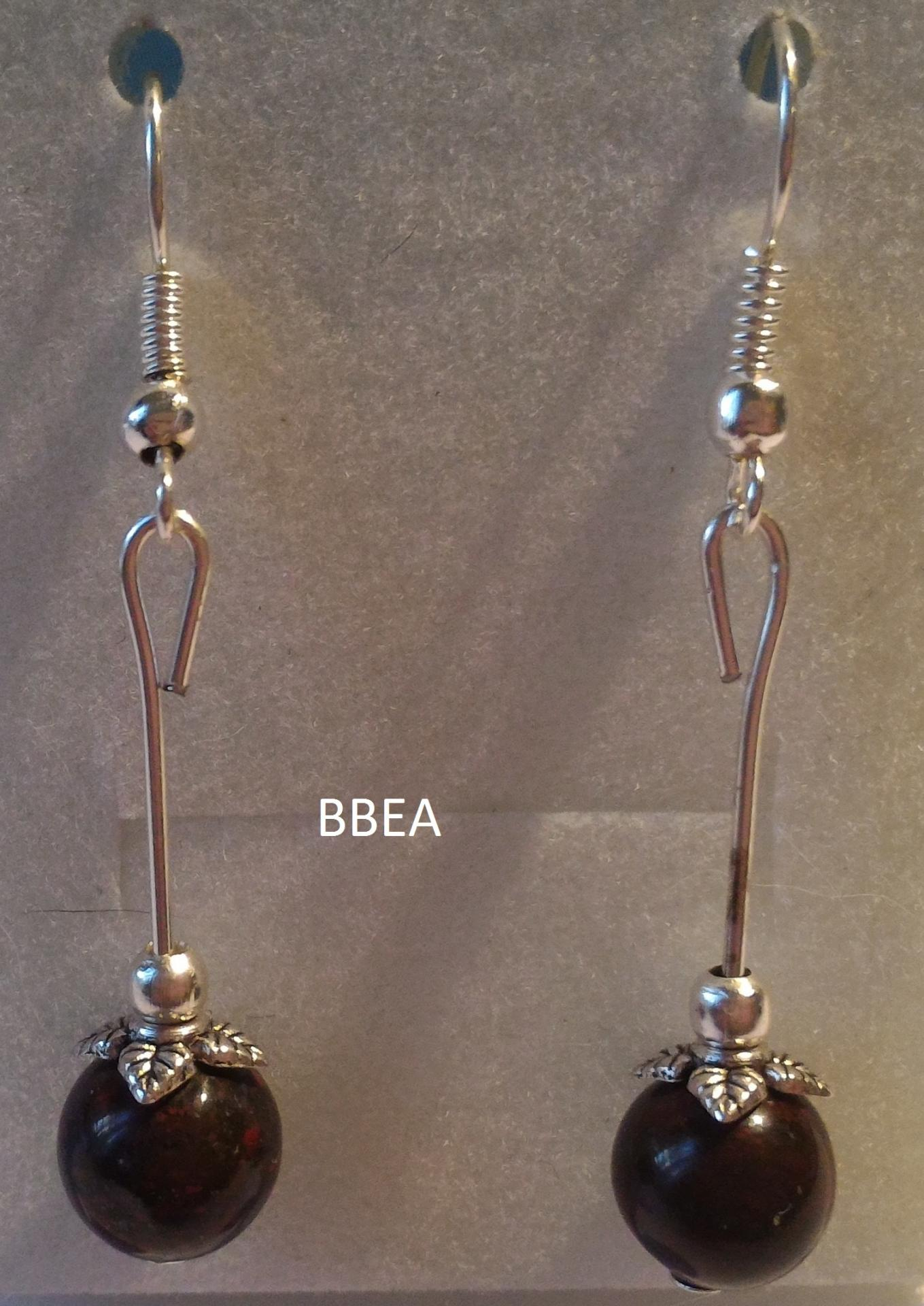 Boucles d oreilles jaspe brechia 2