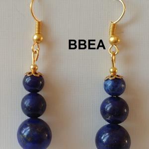 Boucles d oreilles lapis lazuli 1