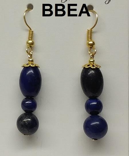 Boucles d oreilles lapis lazuli 2