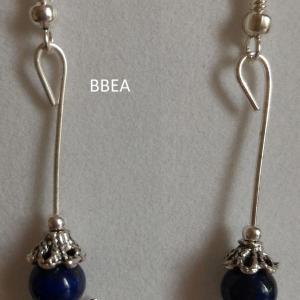 Boucles d oreilles lapis lazuli ange