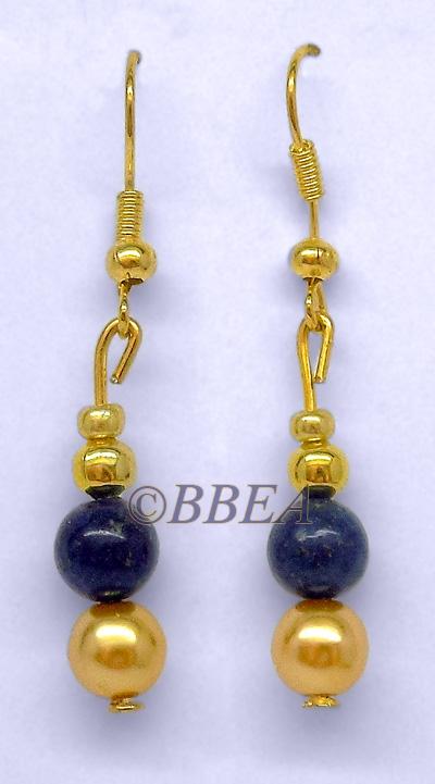 Boucles d oreilles lapis lazuli3174