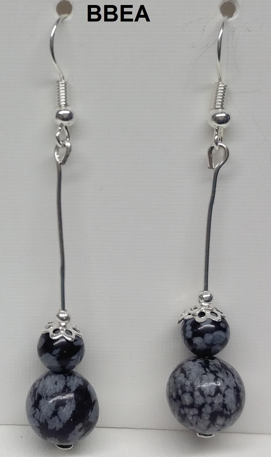 Boucles d oreilles obsidienne neige 1