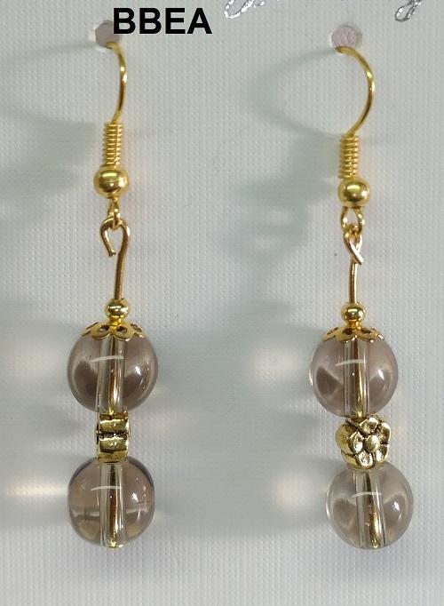 Boucles d oreilles quartz fume 1