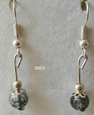 Boucles d oreilles quartz lodolite 2