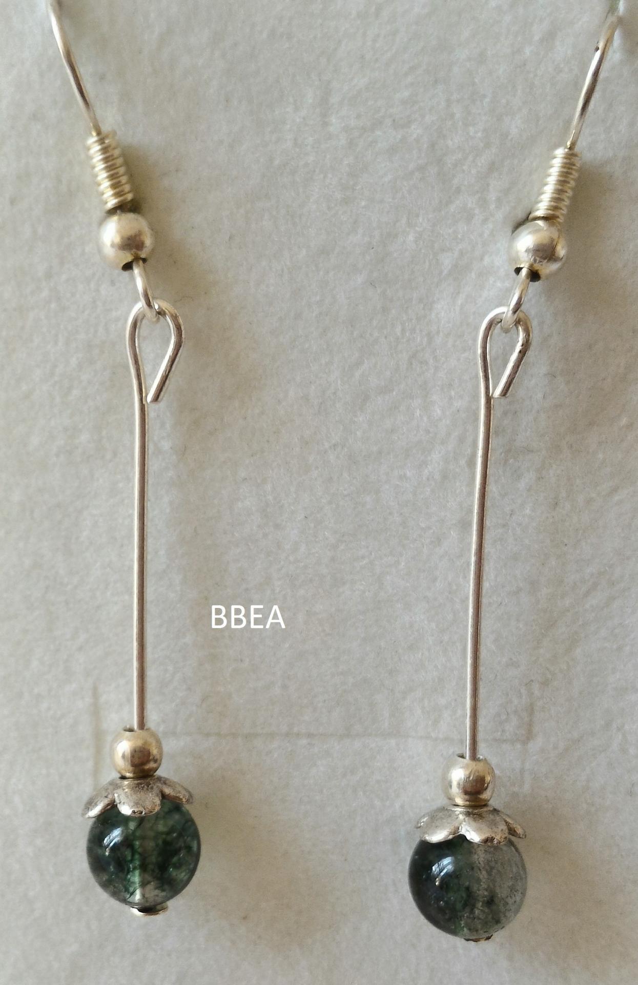 Boucles d oreilles quartz lodolite