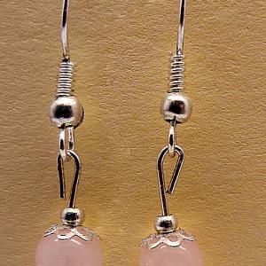 Boucles d oreilles quartz rose 2885