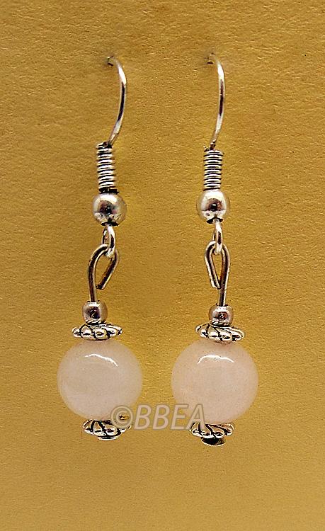 Boucles d oreilles quartz rose 2893