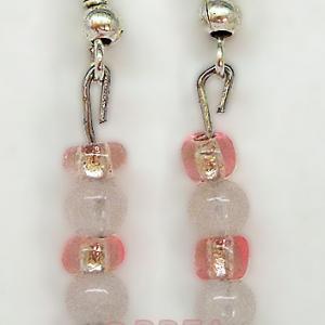 Boucles d oreilles quartz rose 3056