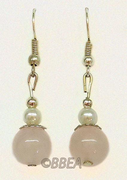 Boucles d oreilles quartz rose 3124