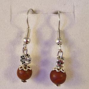 Boucles jaspe rouge 2