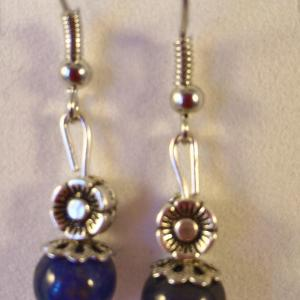 Boucles lapis lazuli 1