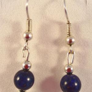 Boucles lapis lazuli 10