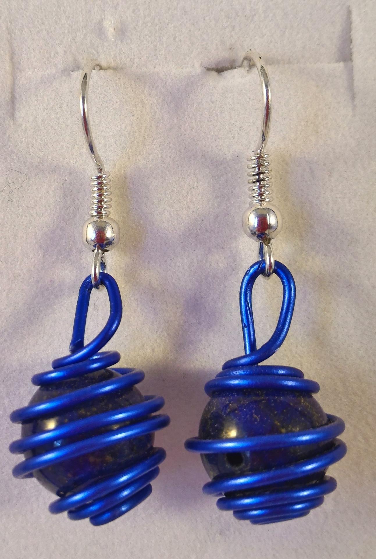 Boucles lapis lazuli 13